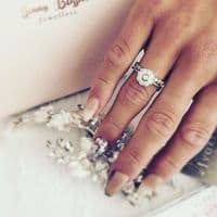 0.30cts Big and Small Bubble diamond ring
